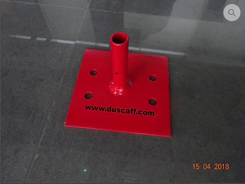 Socket Base Plate 150 x 150 x 5 mm, Painted
