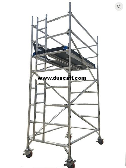 aluminium double width mobile tower