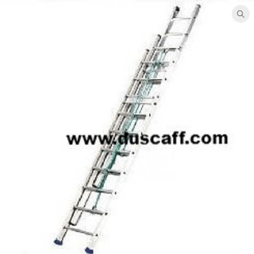 Échelle Coulissante en Aluminium 3 Plans, 15,0 mètres 17 + 17 + 17 Échelons
