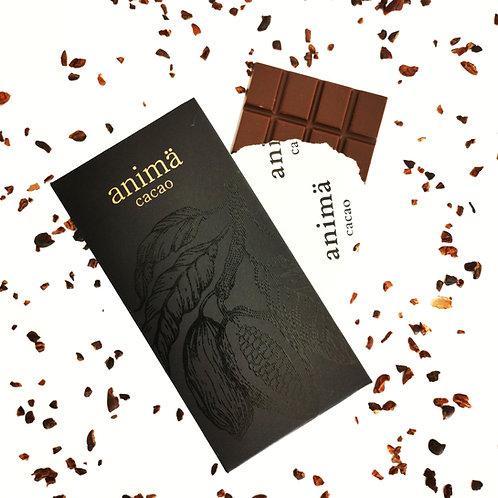 Barra de Chocolate 70% cacao, 80 gr