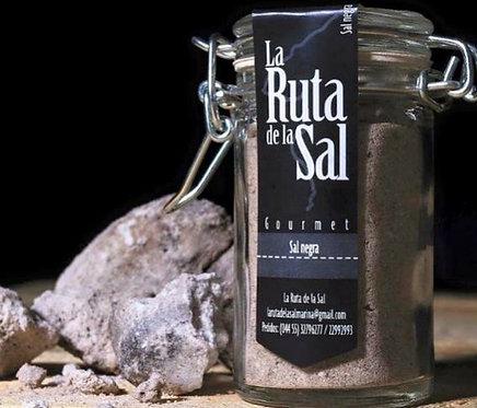 Sal de mar negra orgánica con albahaca, 110 gr