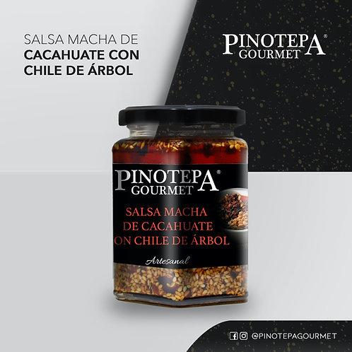 Salsa de cacahuate con chile de árbol, 300 gr
