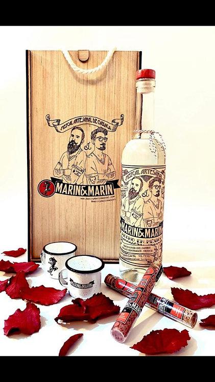 Regalo mezcal artesanal Marin & Marin, 750 ml