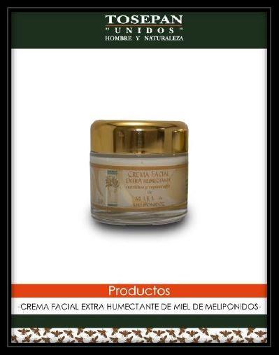 Crema facial de día de miel melipona, de día