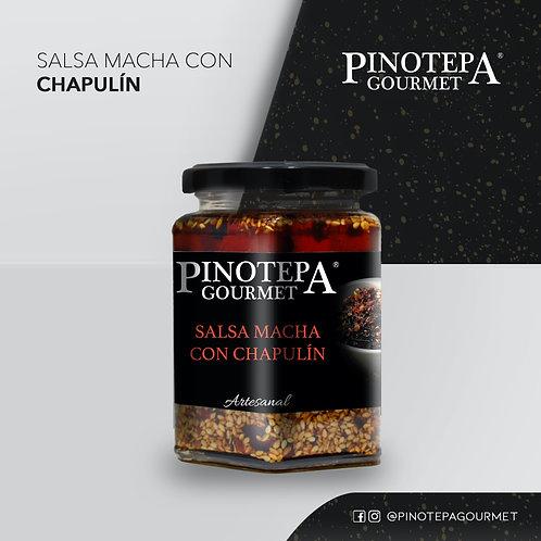 Salsa macha al chapulín, 300 gr