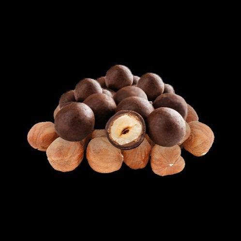 Avellanas tostadas - recubiertas de chocolate, 120 gr