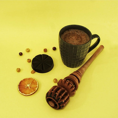 Chocolate de taza 50% cacao - avellana naranja, 70 gr