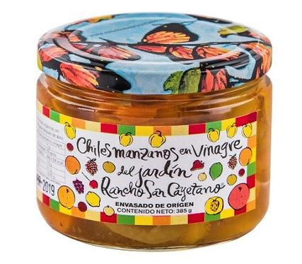 Chiles manzanos en vinagre, 385 gr