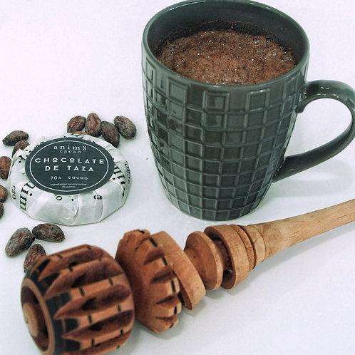 Chocolate de taza 70% cacao, 70 gr