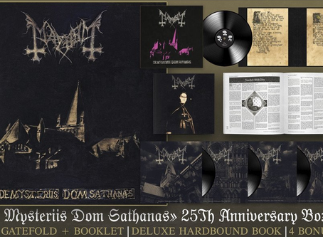 MAYHEM - De Mysteriis Dom Sathanas (25th Anniversary Box Set) PRE-ORDER OPEN