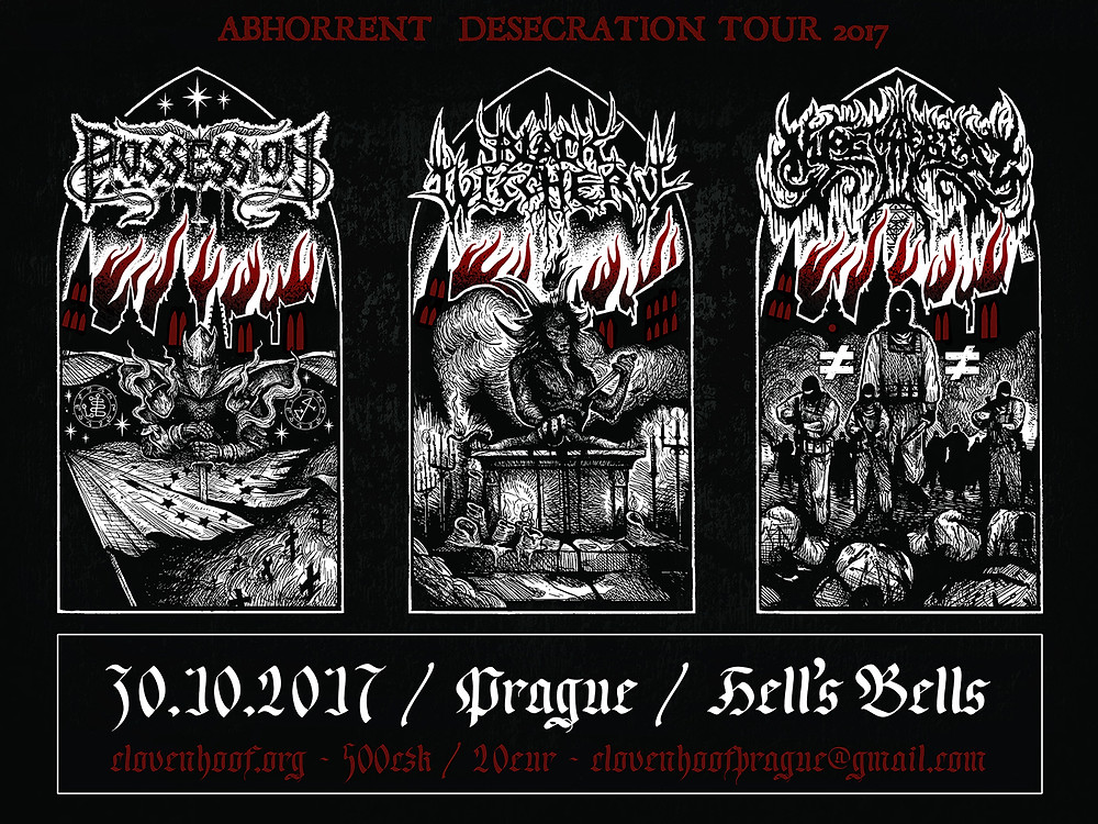 Abhorrent Desecration Tour 2017 - Prague