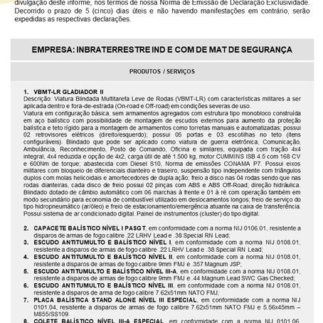 IDE nº 023/2021 - Inbraterrestre