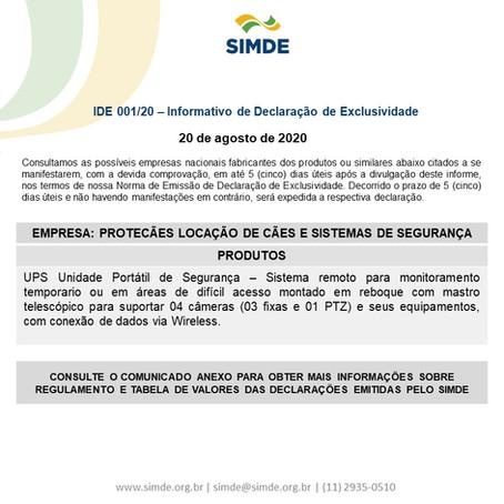 IDE_001/2020_Informativo de Declaração de Exclusividade