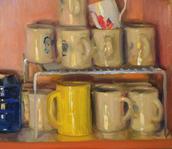 Coffee Mugs in the Cupboard