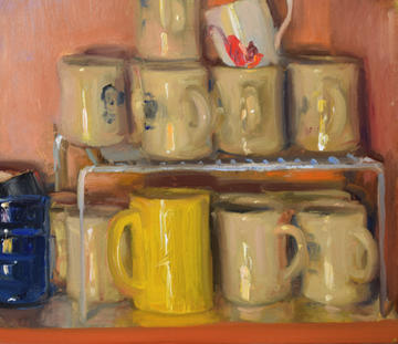 Coffee Mugs in the Cupboard