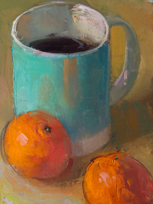 Coffee and Two Mandarins