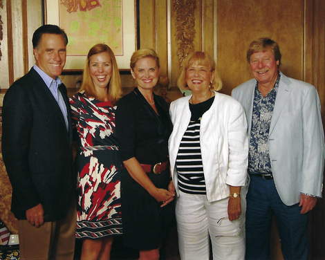 Mitt and Ann Romney with Dorsee Family.p