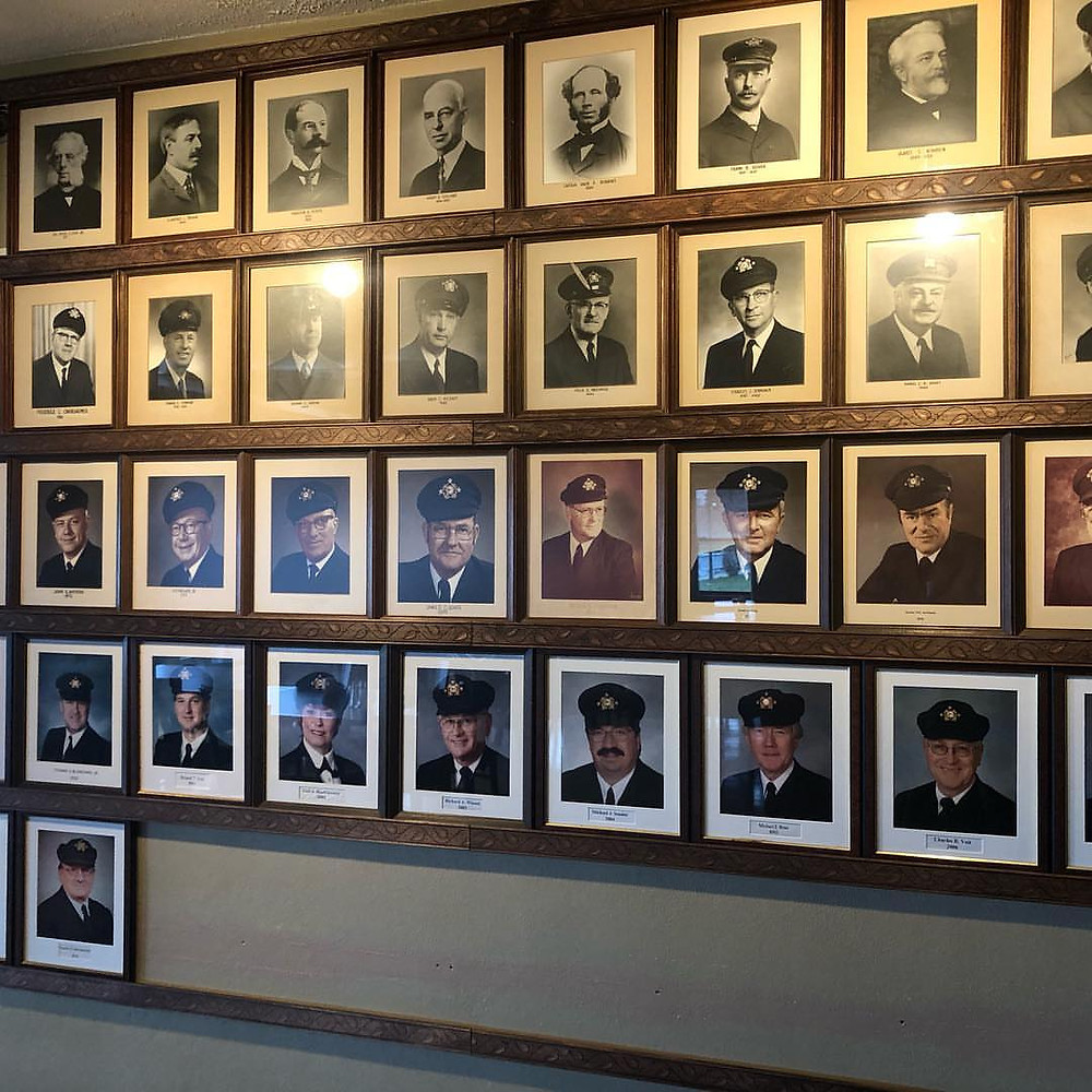 Wall of Commodores Buffalo Yacht Club