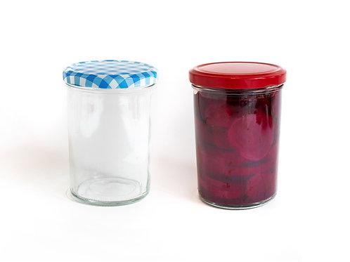 15 x 440ml - Premium Glass Jars - Twist Off
