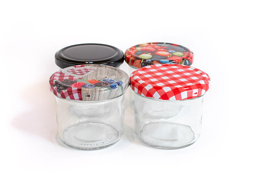 24 x 125ml Premium Glass Jars - Twist Off