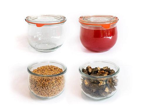 6x 500ml - Premium Glass Mold Jars