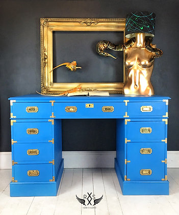 """Campaign Style desk - Painted in Annie Sloan """"Giverny"""""""
