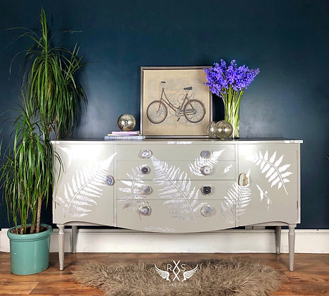 Strongbow Sideboard with Metal Leaf Ferns