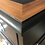 "Thumbnail: Twin Pedestal Desk with Chrome Cup Handles - Fusion ""Coal Black"""
