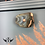 Thumbnail: Grey Sideboard with Rose Gold Leaf Print