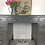 Thumbnail: Dark Grey Pedestal Desk with Cup Pulls
