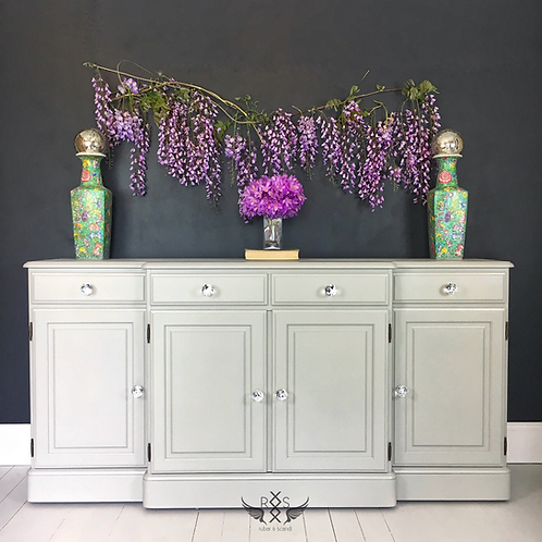 """Ducal Sideboard - Painted in Farrow & Ball """"Lamp Room Gray"""""""
