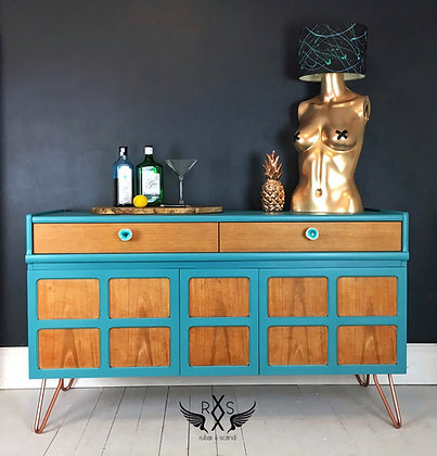 """Small Nathan Sideboard - Painted in Farrow and Ball """"Vardo"""""""