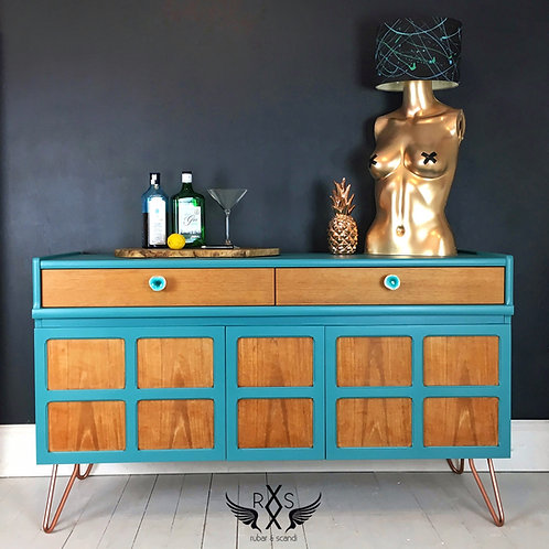 "Small Nathan Sideboard - Painted in Farrow and Ball ""Vardo"""