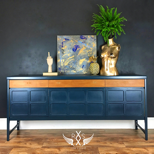 "Nathan Sideboard - Farrow and Ball ""Hague Blue"""