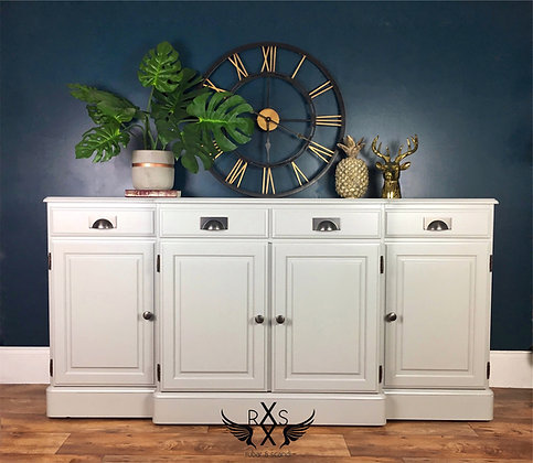 """Ducal Sideboard - Painted in Farrow and Ball """"Lamp Room Gray"""""""