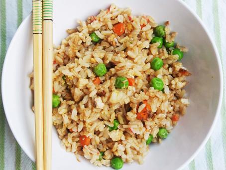 Gebratener Gemüse-Reis mit Ei
