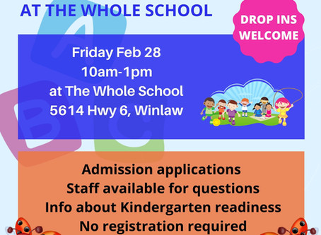 Whole School Kindergarten Open House THIS FRIDAY