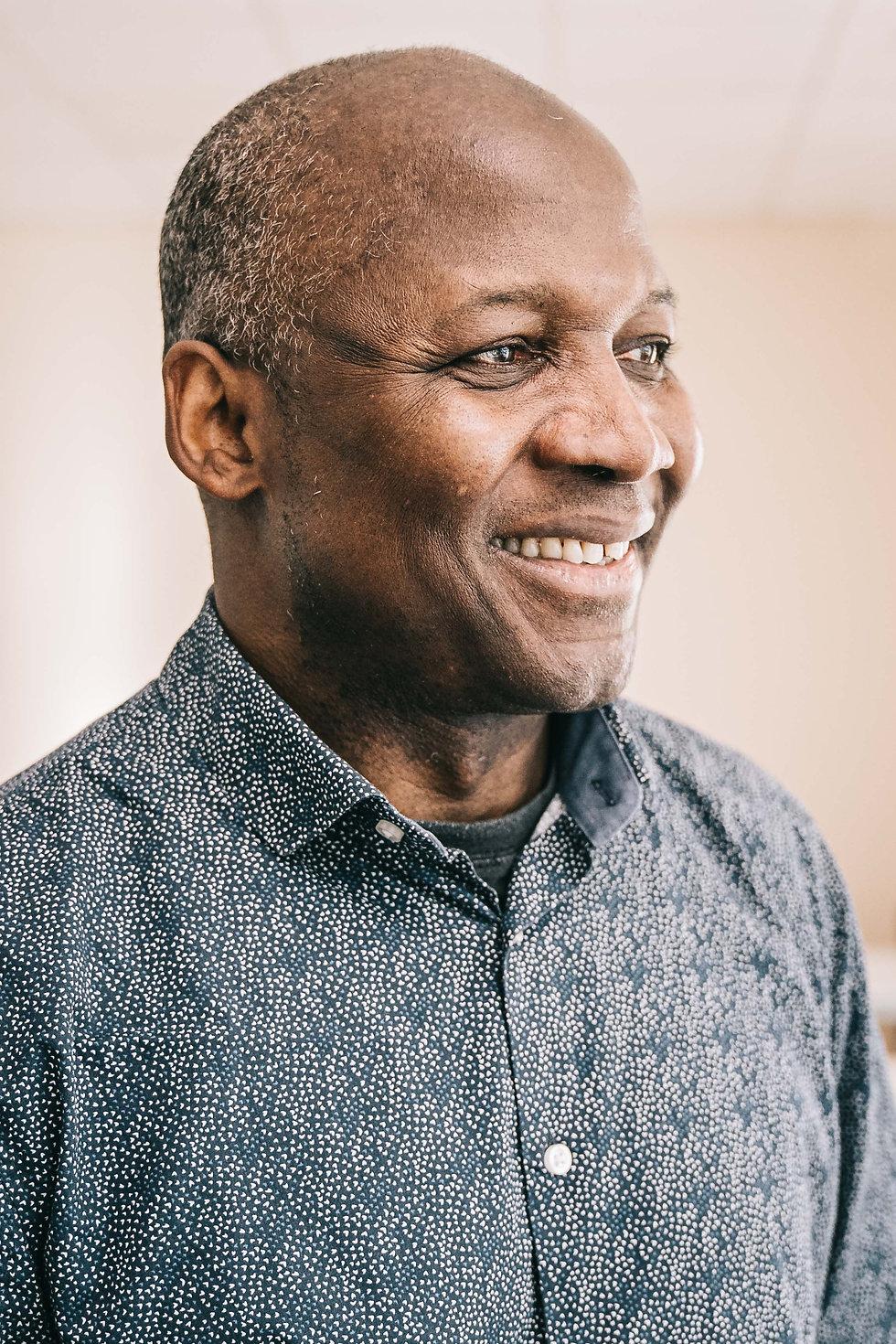 a portrait of a smiling man vhs