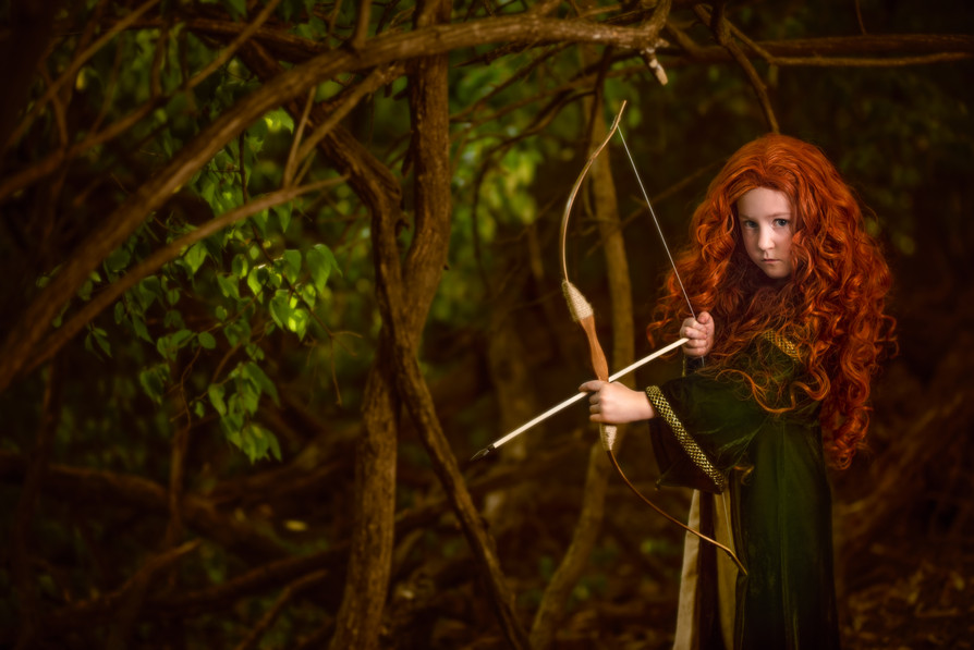 Merida themed celtic picture