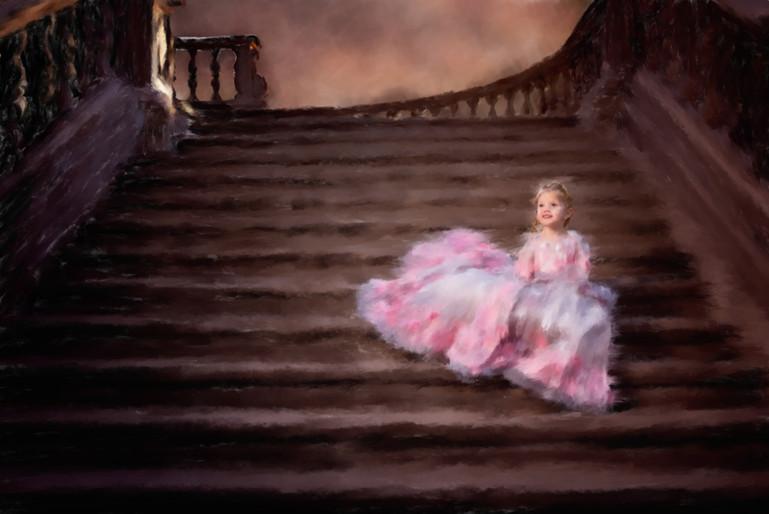 Castle Steps Painted Portraite