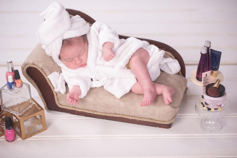 Newborn Baby at the Spa photography