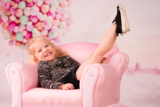 Hot Air Balloon and a Pink Chair