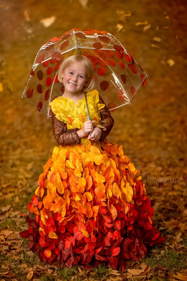 Falling Leaves Autumn Dress