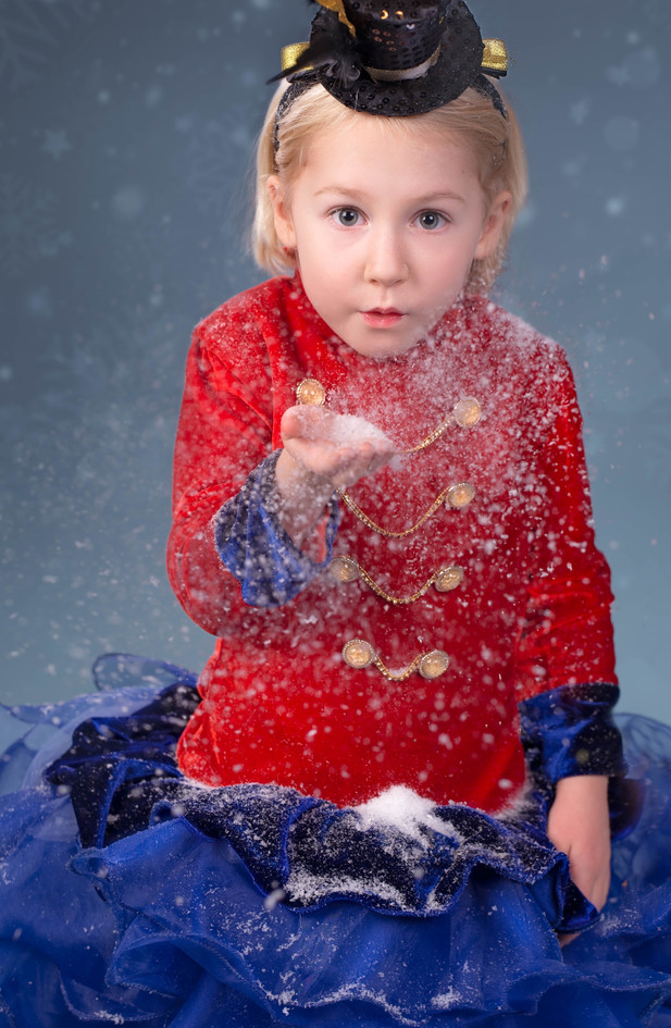 Blowing Snow Christmas Picture