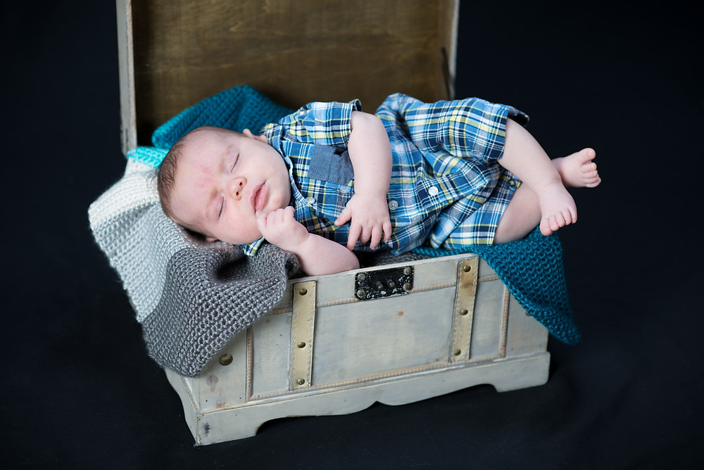 Baby boy photography session in Overland Park