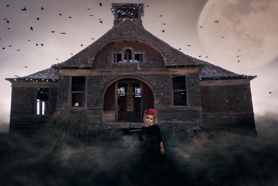 Creepy Halloween Zombie Girl