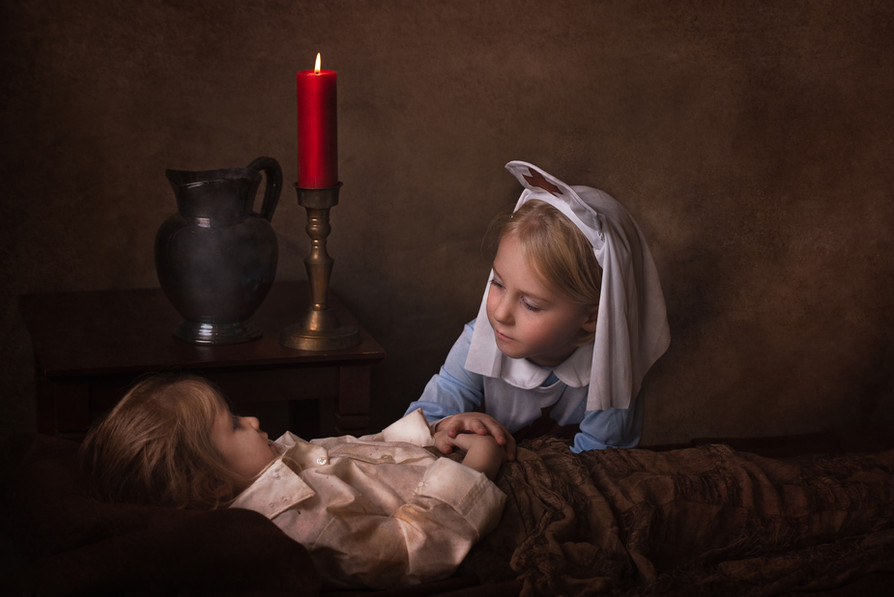 Nursing During the Civil War themed photoshoot