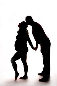 Dramatic Maternity Couple's Sillhouette