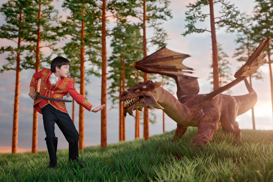 Fantasty Cosplay Photography with a Prince and a Dragon