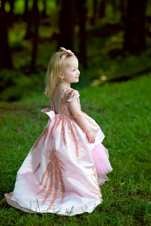 Toddler photography in a formal dress